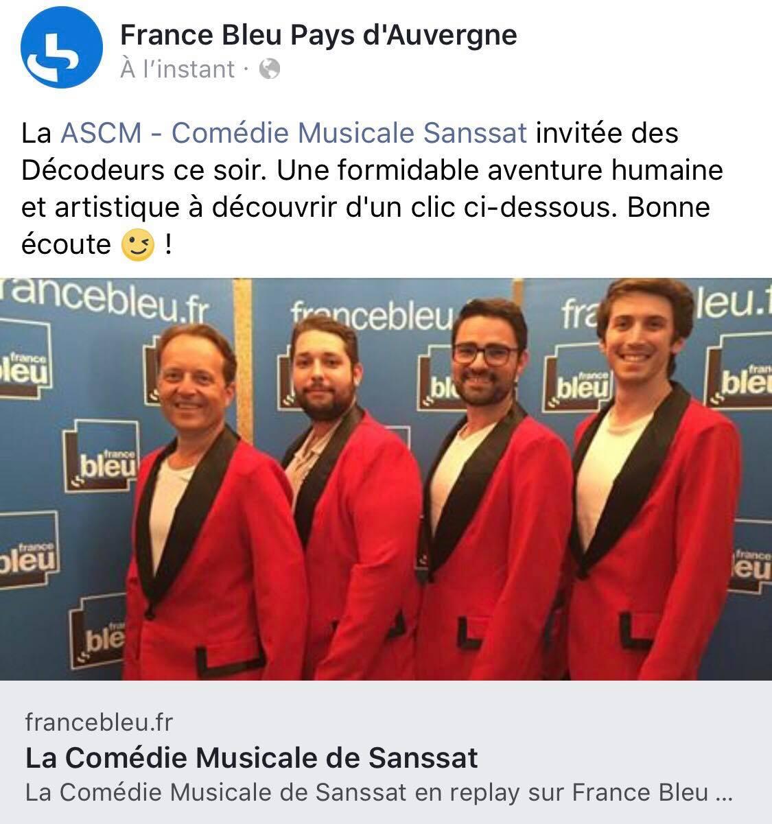 France Bleu Pays d'Auvergne – 20/06/2018